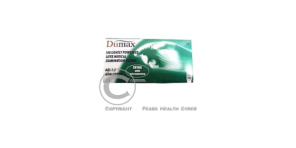 DUMAX vyšetřující latexové nesterilní pudrové rukavice XS/ 100ks