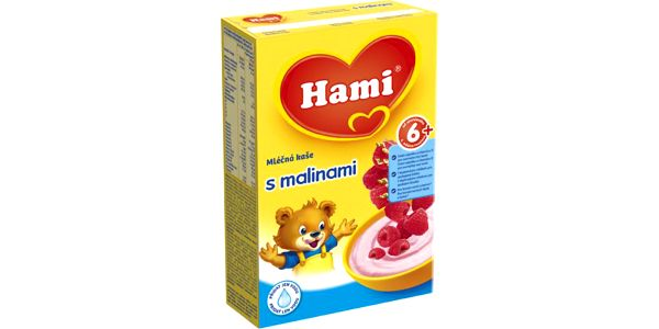 Hami kase rýžovo mléčná malina 225g 6M