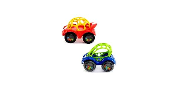 Bright Starts Hračka autíčko Oball Rattle & Roll(TM) (3 m+)