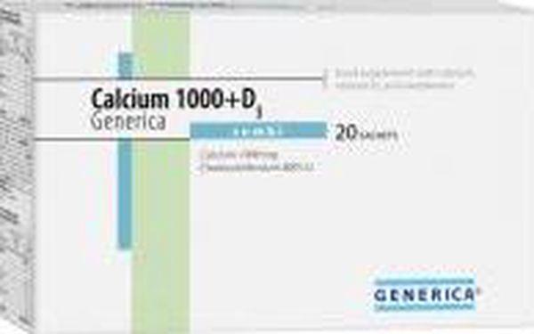 Calcium 1000+D3 combi Generica 20 sachets