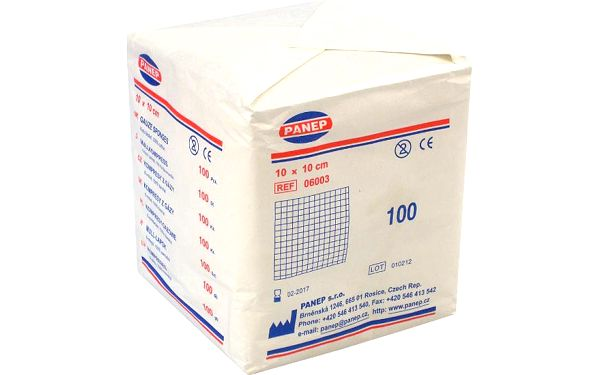 KOMPRESY z hydrofilní gázy 10x10cm/100ks Medical