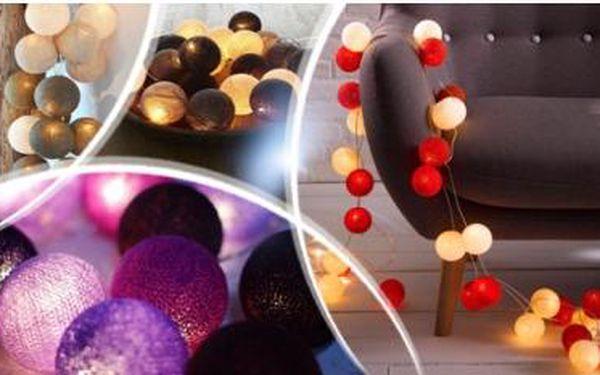 Balónkové koule - originální svítící dekorace do interiéru. 10 nebo 20 ks + výběr ze 3 barevných variant vč. poštovného.