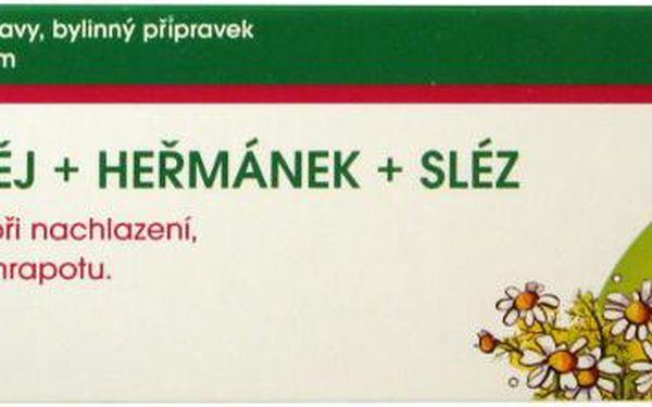 FAVEA Šalvějové pastilky+heřmánek+sléz 20ks bez cukru