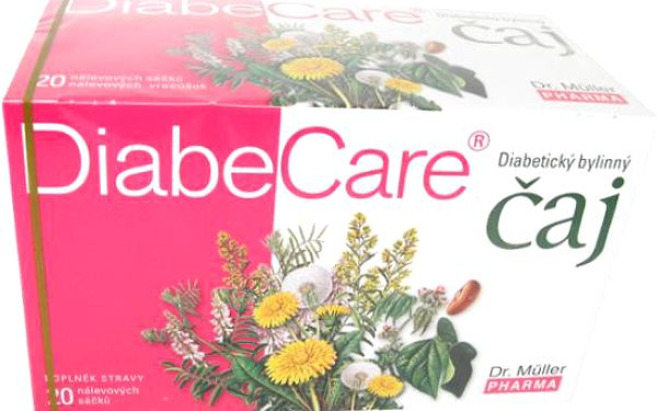 DIABECARE bylinný čaj 20x2g (Dr.Muller)
