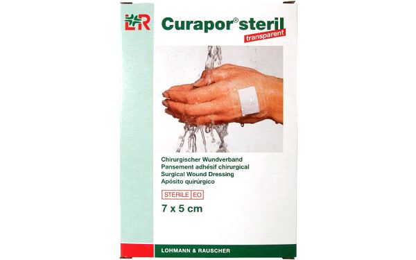 Náplast Curapor Transparent steril. 7 x 5cm / 5 ks