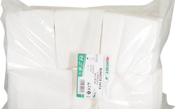 Vata bun.přířez 10x10cm 1kg Batist
