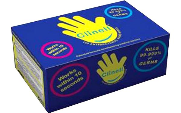 Clinell Antibacterial Hand Wipes 100ks