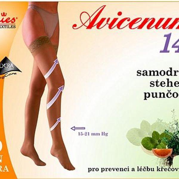 Stehenní samodržící punčochy Avicenum140 stehenní 3B/D tělová