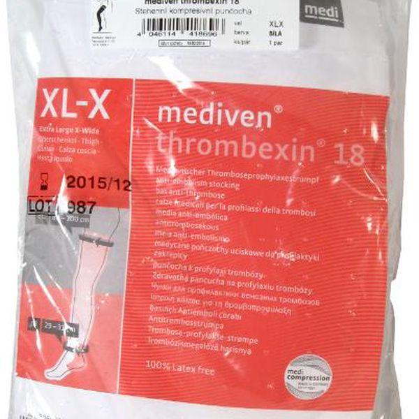mediven Thrombexin 18 stehenní punč. vel. XLX bílá : Výprodej