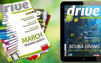 10 čísel anglicky psaného časopisu Drive