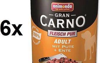 Animonda Adult Gran Carno krůta + kachna 6 x 800g