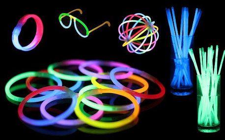 Barevné svítící tyčinky po 50 nebo 100 kusech
