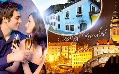 Český Krumlov - zimní nebo romantický pobyt na 3 dny pro 2 osoby včetně snídaní, kávy, čaje a vína či sektu!
