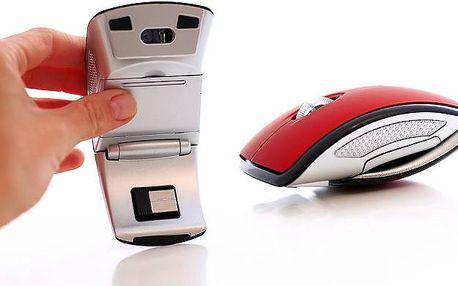 Skládací bezdrátová myš ve 2 barevných provedeních