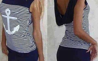 Námořnické šaty s kotvou - 2 barvy