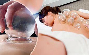 30 nebo 60min. baňková masáž + baňkování v Magnolii! Odstraňuje bolest páteře a pohybového aparátu.