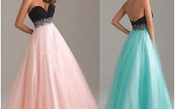 Princeznovské šaty - 2 barvy