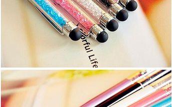 Propiska s krystaly v 5 barvách - lze použít i jako stylus - skladovka