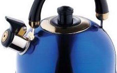 Konvice pískací nerez 2 l modrá RENBERG RB-6505modr