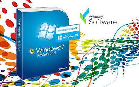 Windows 7 Professional s bezplatným upgradem na desítky ZDARMA, poštovné v ceně