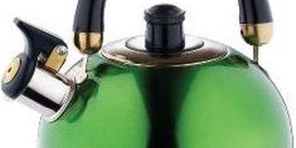Konvice pískací nerez 2 l zelená RENBERG RB-6505zele