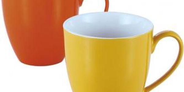 Hrnek 580 ml, sada 2 ks, různé barvy VABENE VB-6020041 Hrnek 580 ml, sada 2 ks, různé barvy VABENE VB-6020041, Oranžová