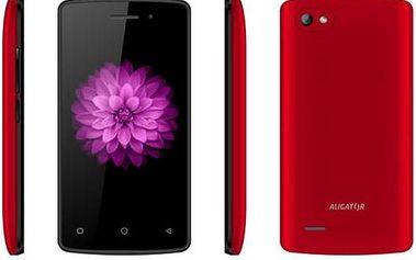Aligator S4070 Duo (AS4070RD) červený + dárek SIM s kreditem T-mobile 200Kč Twist Online Internet (zdarma)
