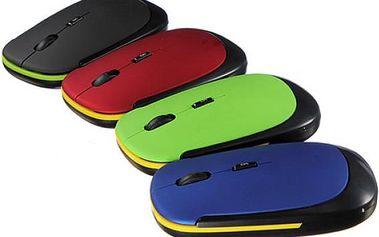 Ultratenká bezdrátová optická myš - na výběr ze 4 barev