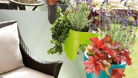 Květináč na balkón Lofly railing dvojitý