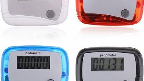 Digitální krokoměr (pedometr) - na výběr ze 4 barev