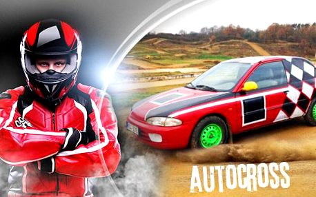 Autorallycross na 9 kol se spolujezdcem + energy drink! Profesionální trať na autocross u Sedlčan!