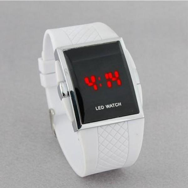 LED hodinky se silikonovým páskem - unisex