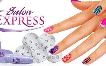 Ozdobte si nehty v pohodlí svého domova!S novou metodou razítek na nehty Salon Expressbudou vaše nehty vypadat jako od profesionála.