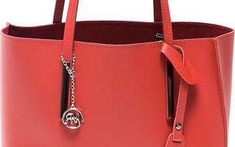Kožená kabelka Isabella Rhea 3020 Rosso - doprava zdarma!