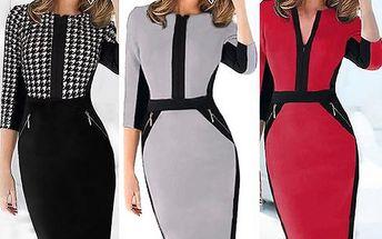 Elegantní šaty ve 4 barvách