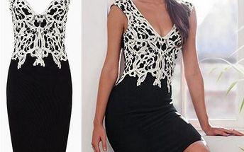 Šaty s originální krajkou