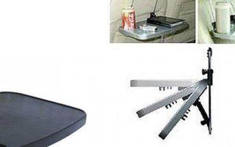 Víceúčelový skládací stolek do auta s držákem na nápoje pro příjemnější jízdu a usnadnění práce.