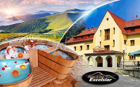 Beskydy! Wellness pobyt pro 2 osoby na 3 dny včetně polopenze! Bazén, sauna, pivní a vinné lázně, bowling!