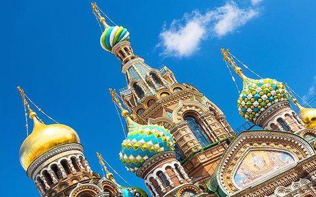 6denní zájezd pro 1 do Petrohradu s prohlídkou města, ubytováním a snídaněmi