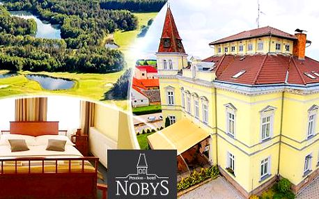 Jižní Čechy - Nová Bystřice! 2 až 4 dny pro dva nebo rodinu v Hotelu Nobys včetně polopenze, wellness a hraní tenisu!