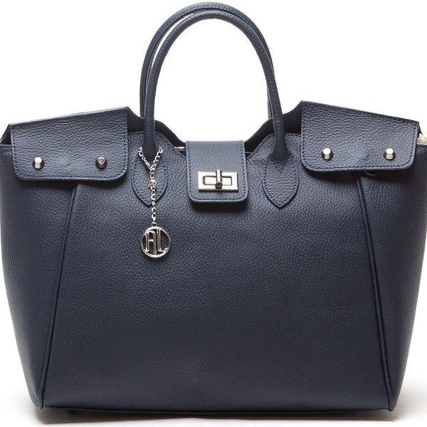 Kožená kabelka Anna Luchini 1134 Blu - doprava zdarma!