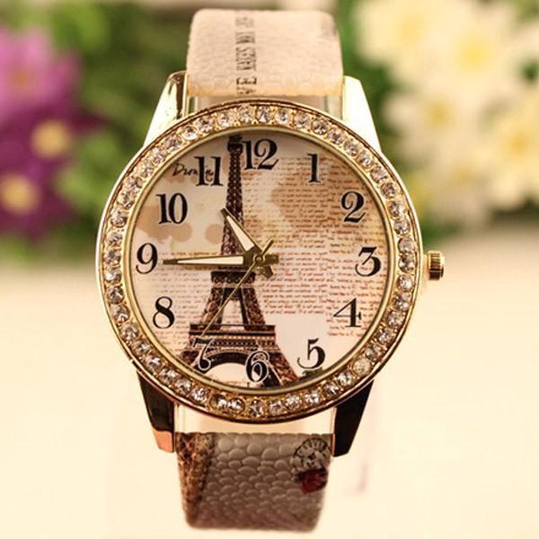 Elegantní vintage hodinky s Eiffelovou věží