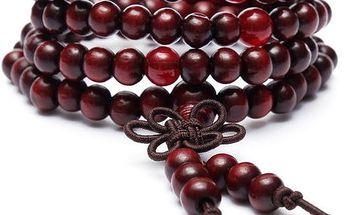 Dřevěné buddhistické modlitební korále - 5 barev