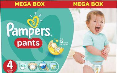 Pampers Pants plenkové kalhotky 4 Maxi (9-14 kg), 104 ks