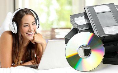 Převod kazety VHS nebo VHS-C na DVD