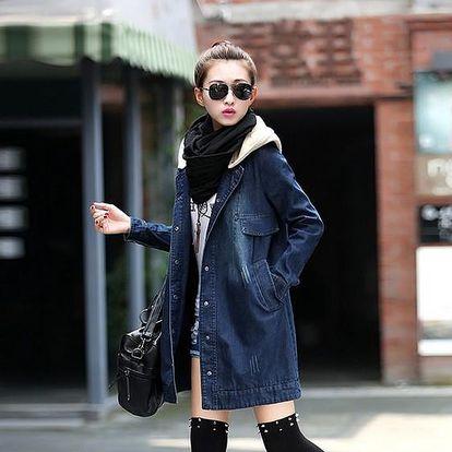 Jeans bundička / kabátek - S-2XL