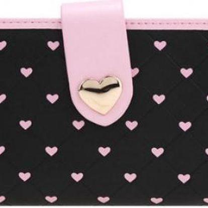 Dámská peněženka se srdíčky Love