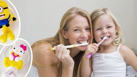 Originální držáky na zubní kartáčky - Mimoň nebo Hello Kitty. Proměňte svému dítěti čištění zubů v zábavu! Díky těmto roztomilým pomocníkům se bude Váš potomek na ranní a večerní hygienu těšit! Velmi hezké a kvalitní zpracování a snadné připevnění díky př