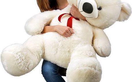Velký bílý plyšový medvěd 100 cm