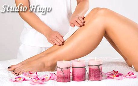 59% sleva na depilaci nohou voskem ve studiu Hugo